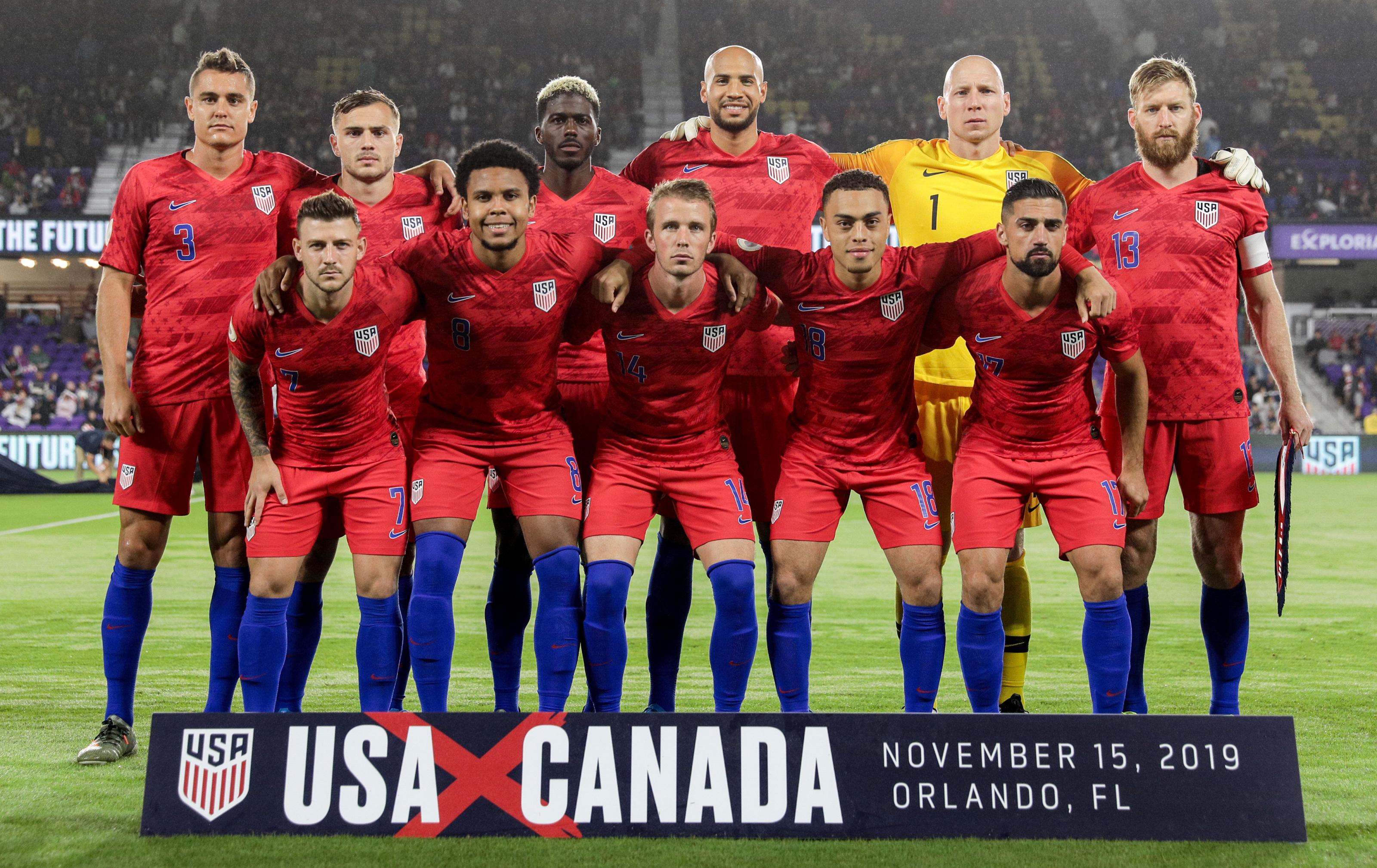 Risultato immagini per us men soccer team photo 2020